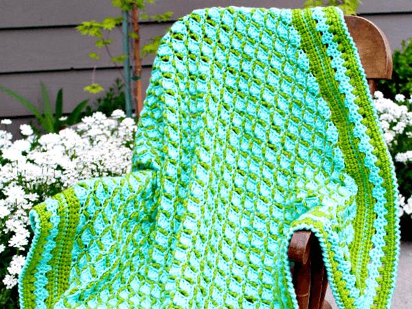Frog Pond Baby Blanket