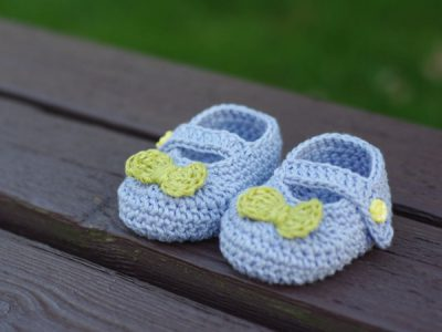 Mary Janes Baby Booties