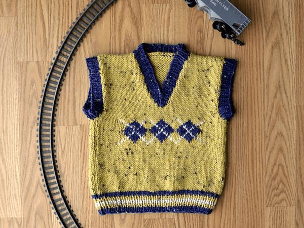 Argyle Junior Vest