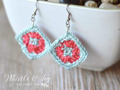 Crochet Granny Square Earrings