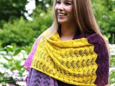 Feather & Fan shawl