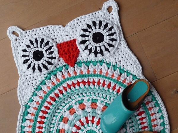 Crochet Owl Rug Share A Pattern