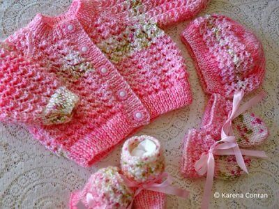 Lacey baby cardigan