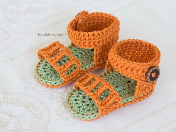 Honeysuckle Baby Sandals