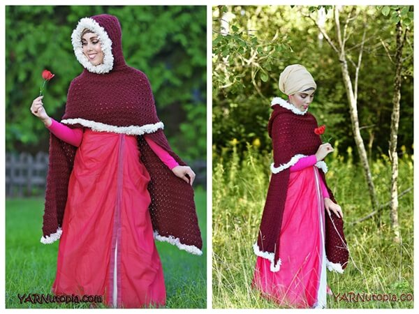 Enchanted Rose Cape