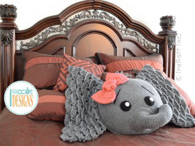 Josefina and Jeffery Elephant Pillow