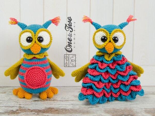 Quinn the Owl Lovey and Amigurumi Set
