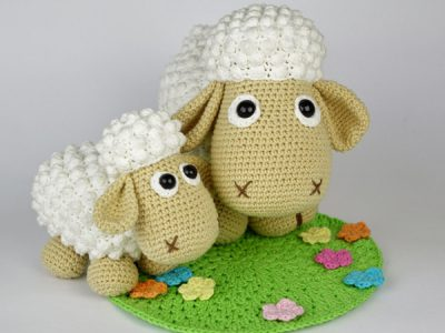 Sheep Wolli and Lamb Lucky Crochet Pattern