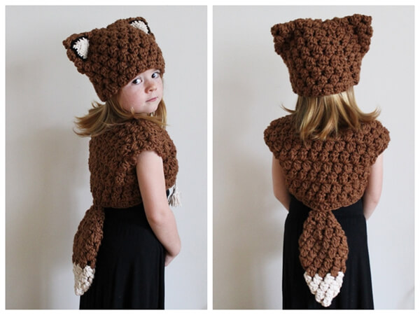 Scout the Fox Hat and Vest Set-Toddler