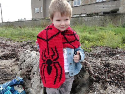 Spider and Web Scarf