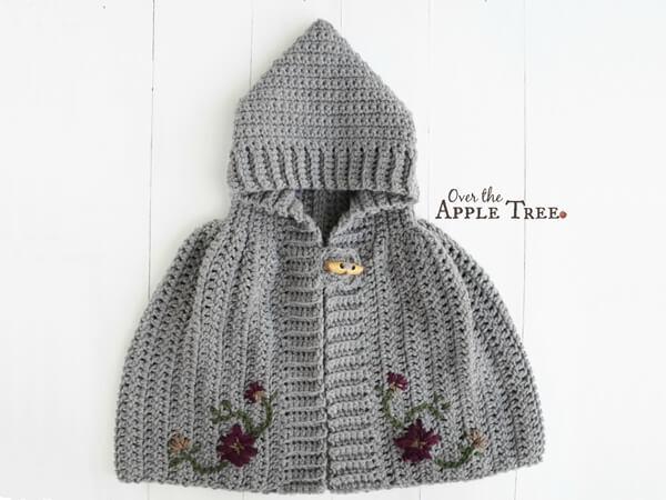 Girl's Crochet Cape