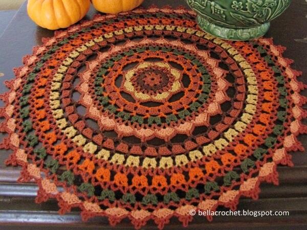 Autumn Spice Mandala Doily