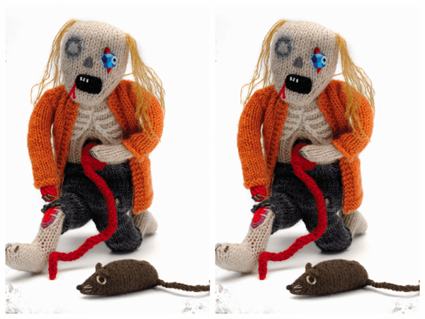 Classic Zombie Doll Knitting Pattern