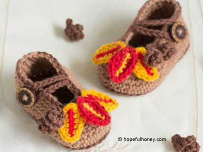 Autumn Oak Baby Booties