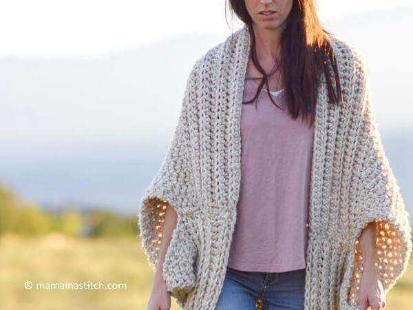 Crochet Cozy Blanket Cardigan