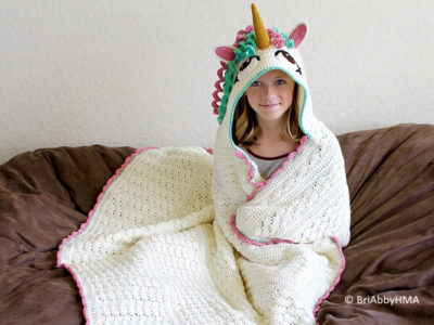 Crochet Hooded Unicorn Blanket Pattern