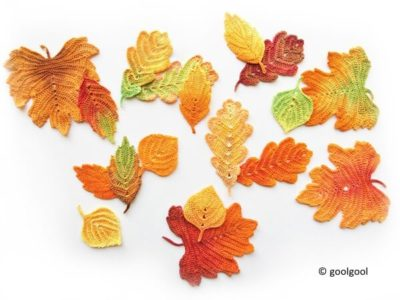 Crochet pattern Autumn leaves