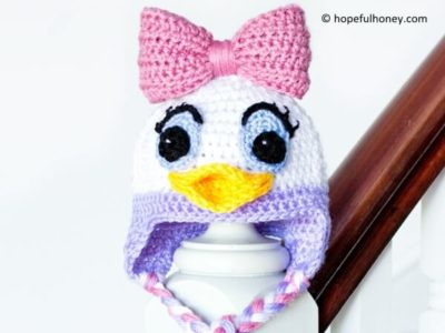 Daisy Duck Inspired Baby Hat