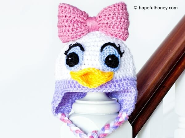 Daisy Duck Inspired Baby Hat