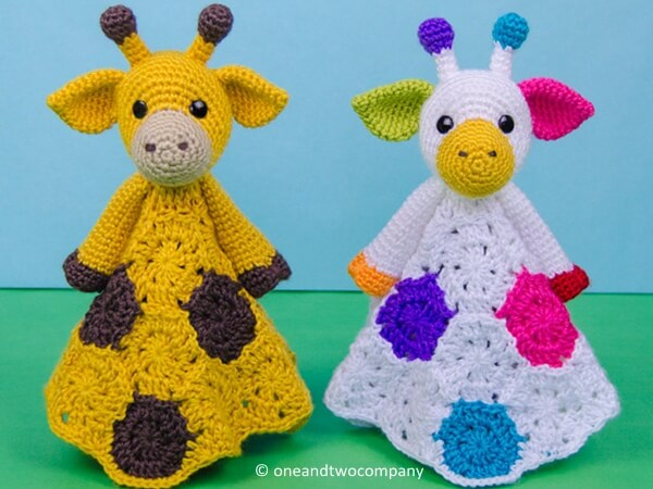 Geri the Giraffe Lovey Blanket