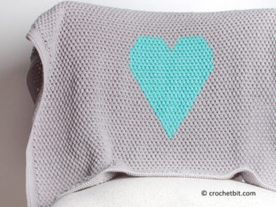 Heart Baby Blanket Crochet