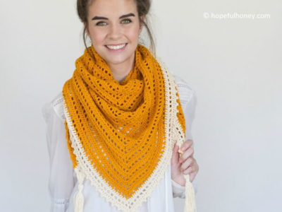 Honey Bird Triangle Scarf