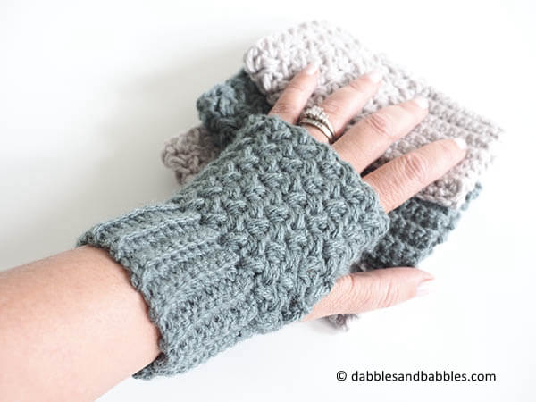 Easy Elizabeth Stitch Fingerless Gloves