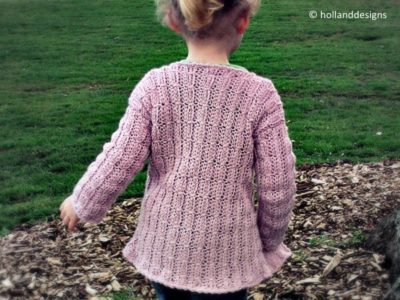 Mock Cable-Knit Cardigan
