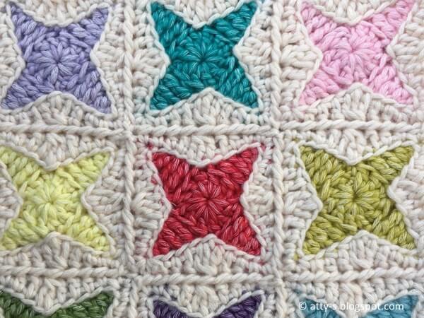 Nova Star Crochet Square