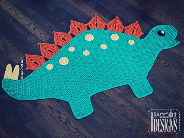 Spiky the Stegosaurus Dino Rug