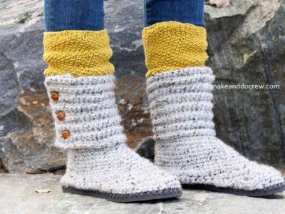 Crochet Flip Flop Boots