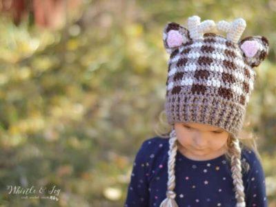 Plaid Woodland Animal Hats