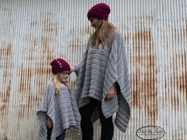 Portland Poncho Mommy and Me