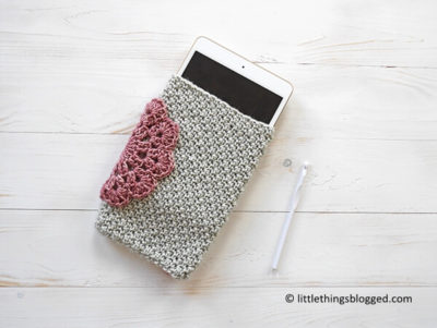 CROCHET TABLET CASE WITH MALLOO