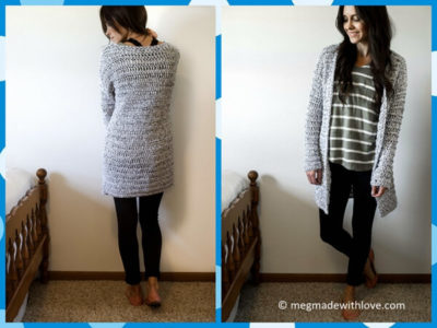 A Long & Chunky Cardigan Sweater