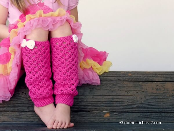 Girly Crochet Leg Warmers