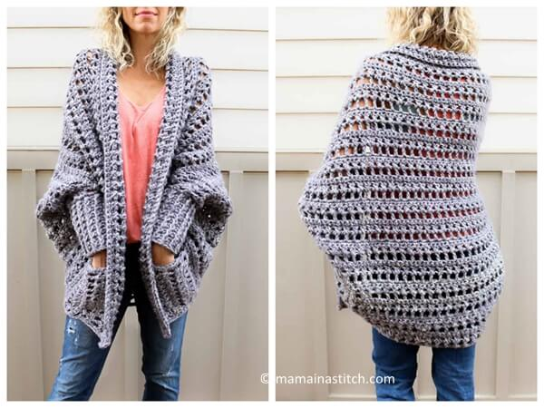 The Dwell Chunky Crochet Sweater Share A Pattern