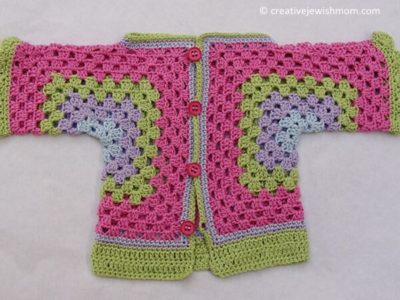 GRANNY HEXIGON BABY SURPRISE SWEATER