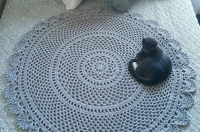 Ring Around the Rosie Mandala Blanket