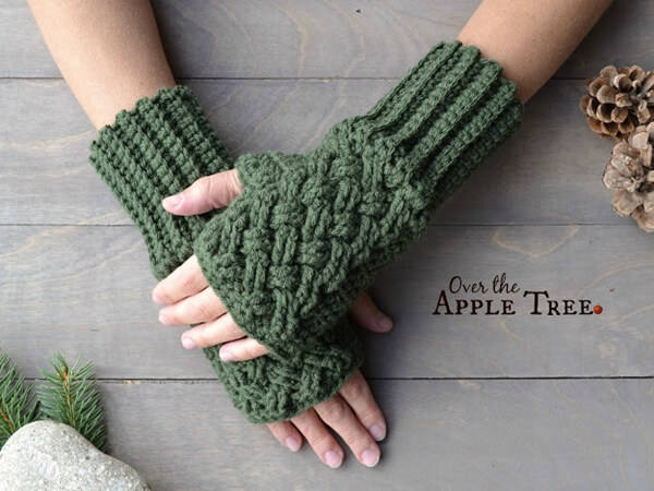 Celtic Weave Fingerless Gloves