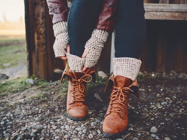 Fingerless Gloves with Boot Cuffs