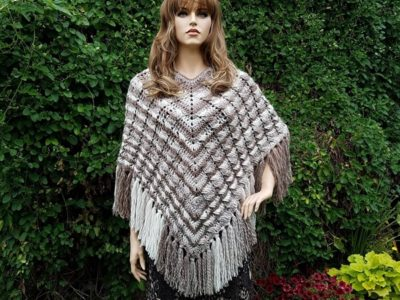 Crochet Cablelicious Poncho Pattern