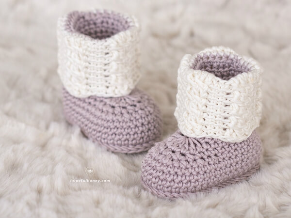 Apricity Cable Baby Booties