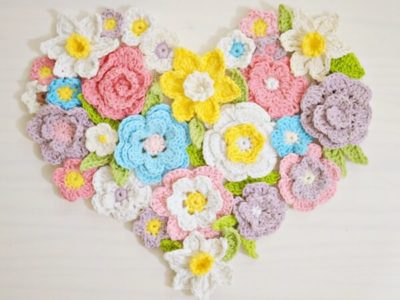 Flower Heart Wall Home Decor