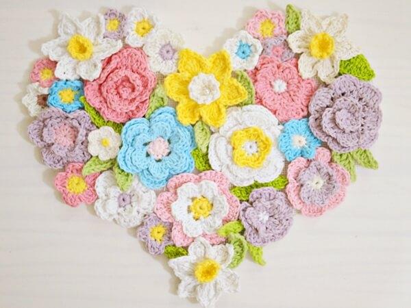 Flower Heart Wall Home Decor