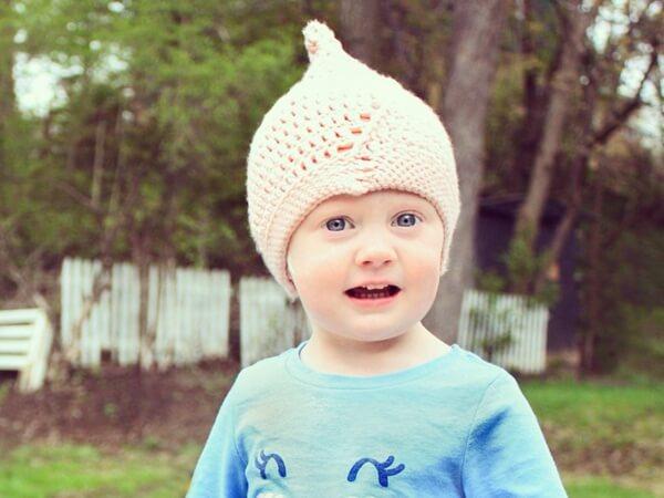 The Spiral Pixie crochet hat