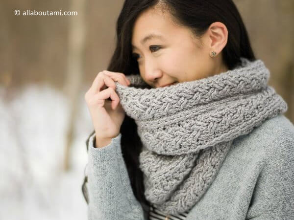 Braided Cabled Cowl