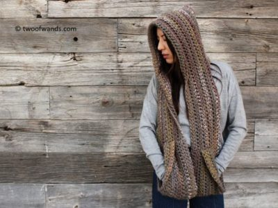 KODIAK HOODED POCKET SCARF