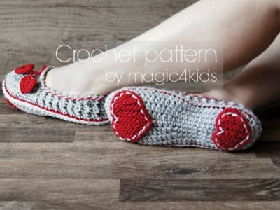 VALENTINE CROCHET SLIPPERS