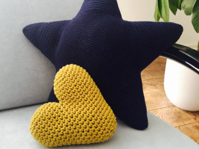 Heart and Star Pillow